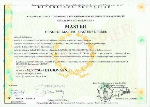 diplome universitaire marseille