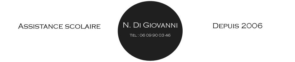 assistance scolaire marseille - Nicolas Di Giovanni